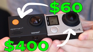 60 action camera vs gopro hero 4 with test footage