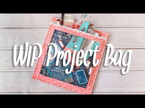 How To Make An Easy WIP Project Bag With Vinyl And A Zipper | Fat Quarter Shop