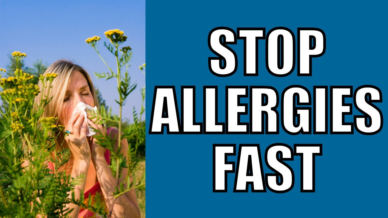 How To Cure Allergies Naturally Youtube
