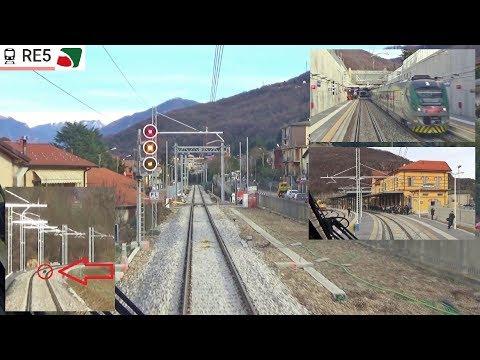 Cab Ride Varese - Porto Ceresio Dalla Cabina Dell'ETR425 Di Trenord (Treno Inaugurale Stampa)