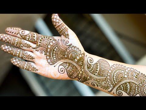 full hand mehndi designs arabic style