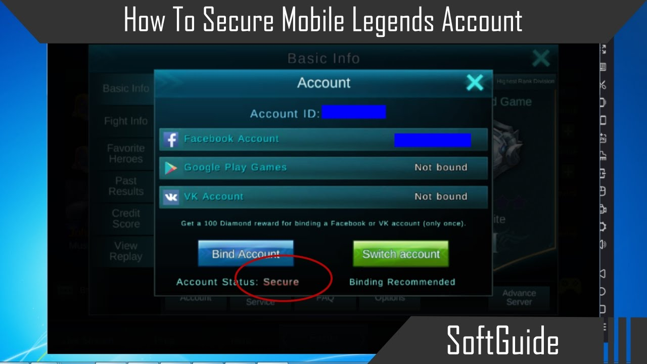 How To Secure Mobile Legends Account by SoftGuide