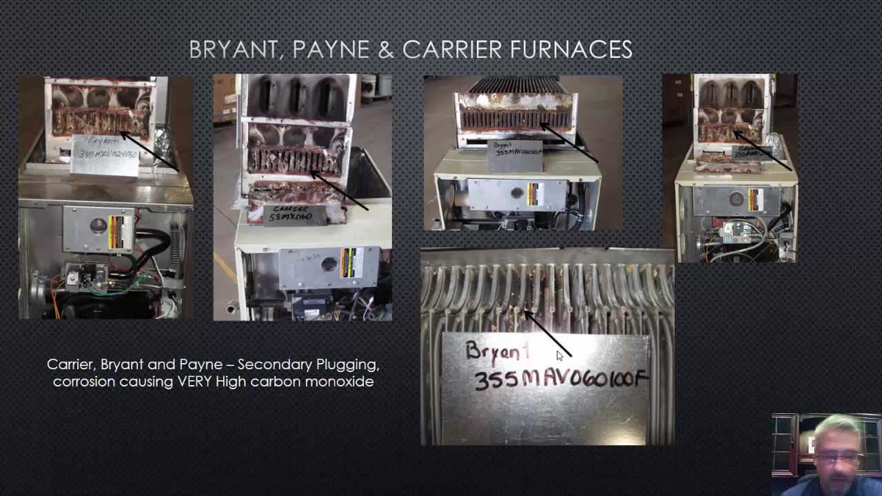 Carrier, Payne or Bryant Heat Exchanger Failure