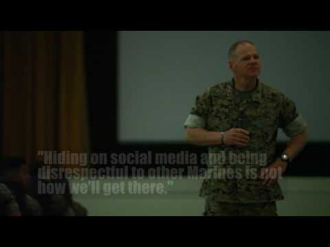 Commandant talks social media misconduct with Okinawa Marines