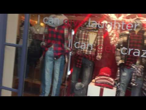 Walking Tour of Paseo Nuevo Outdoor Mall in Santa Barbara State Street Video 1