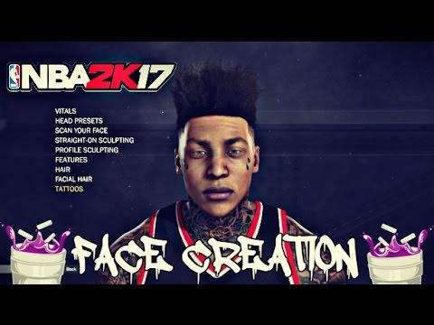 NBA 2k17 HOW TO MAKE MY MYPLAYER'S FACE😜🤙🏽💦 HOW LOOK SWAGGED OUT  CLEANEST FACE CREATION