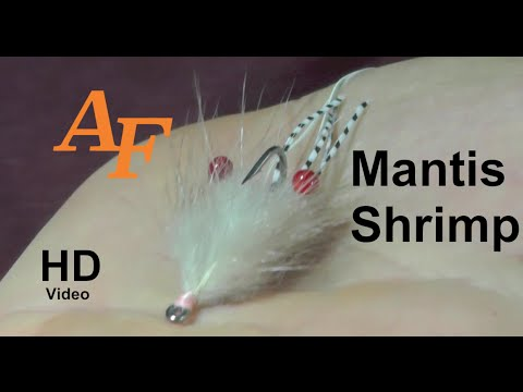Fly Tying Video Mantis Shrimp Flats Fly Permit Golden Trevally Bonefish - Andy Thomsen EP.38