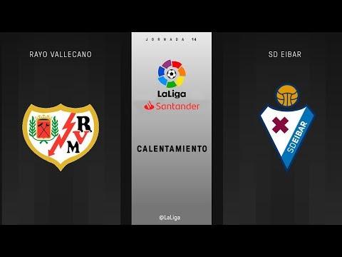 Calentamiento Rayo Vallecano vs SD Eibar
