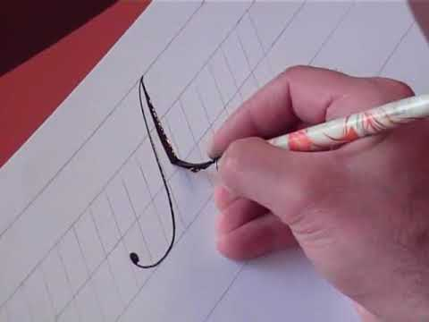 How to Write Copperplate (The Letters M and m)