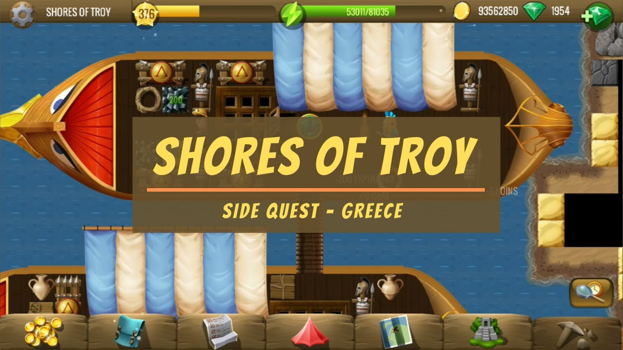 Shores of Troy   Greece Side Quest   Diggy's Adventure   YouTube
