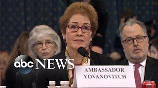 The biggest moments in former US Ambassador Marie Yovanovitch's hearing | Nightline
