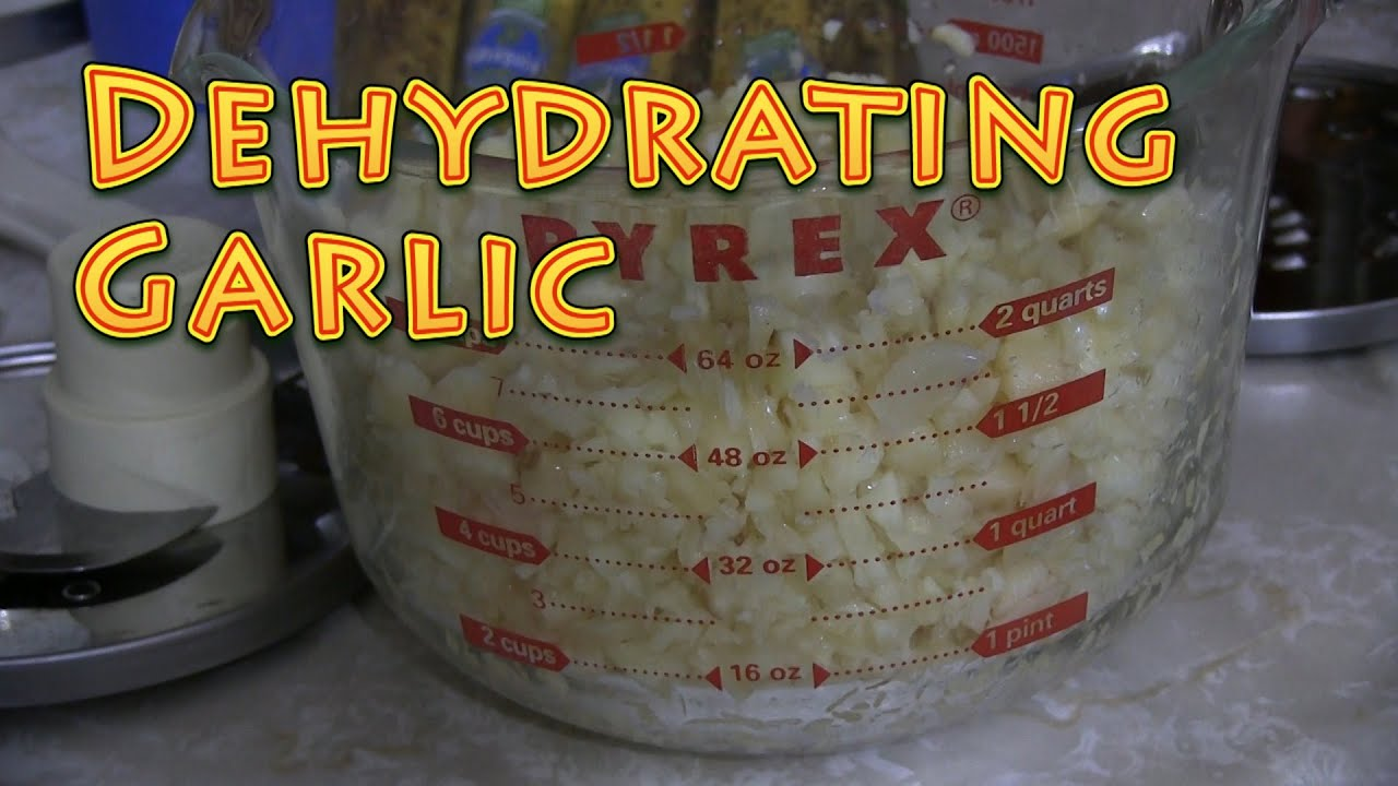 Dehydrating Garlic - DIY