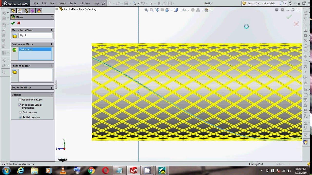 solidworks tutorial knurling