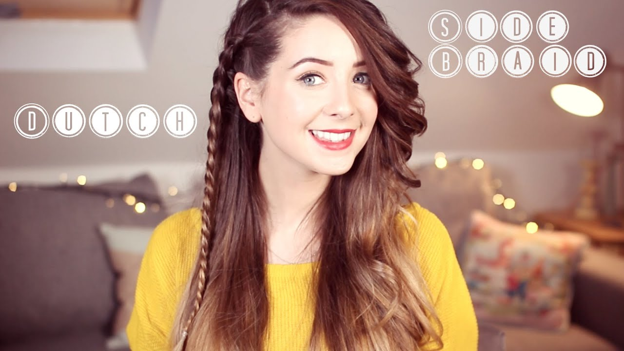 How To Super Easy Dutch Side Braid Zoella Ad YouTube - Hairstyles for short hair zoella