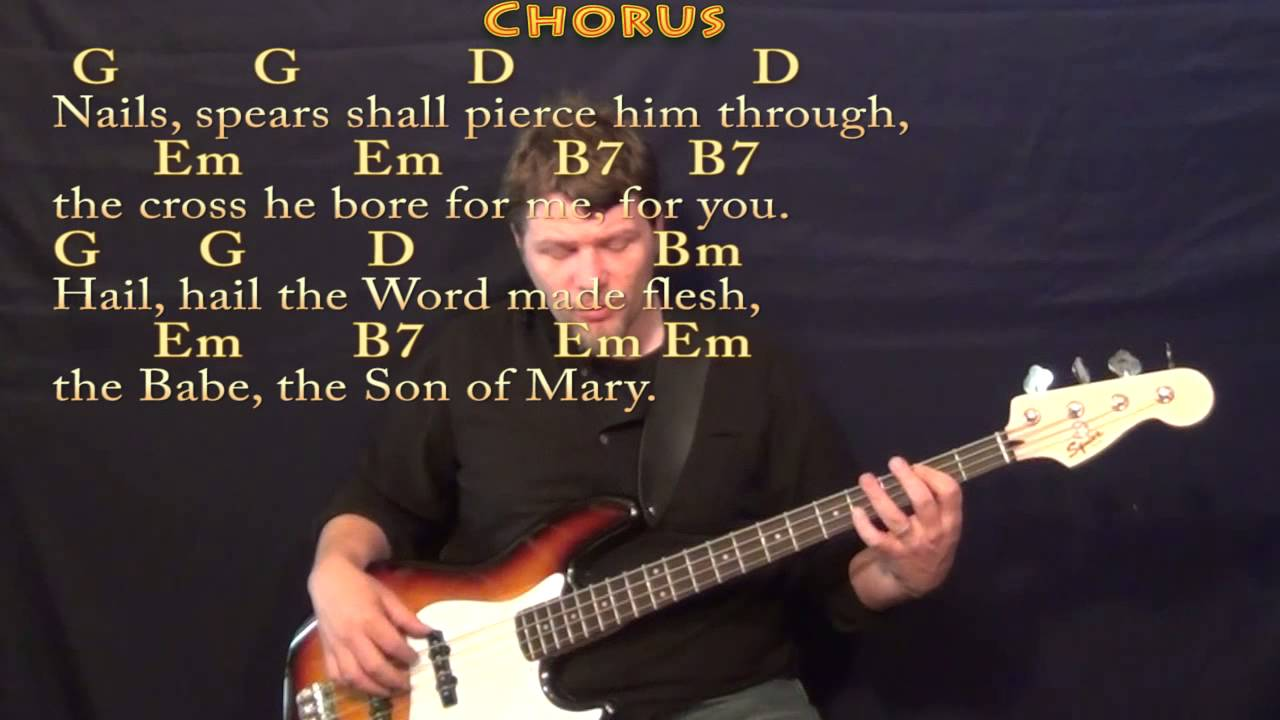 What Child Is This Christmas Bass Guitar Cover Lesson In Em With