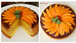 ম্যাংগো ম্যাজিক কাস্টার্ড কেক রেসিপি/আমের কেক পুডিং/আমের পুডিং/Mango Magic Custard Cake Recipe.