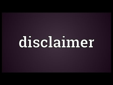Disclaimer Meaning