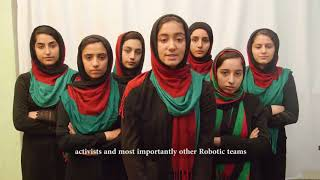 Afghan Robotics Team Sends Out A Message Of Thanks