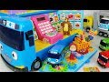 Tayo Bus mart and food toys Baby doll car play - 토이몽
