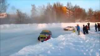 Ижевск зимние трековые гонки 8.02.2015 (для нездоровых любителей столкновений)