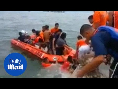 Survivors Rescued From Capsized Ferry Off Coast Of Philippines - Daily Mail