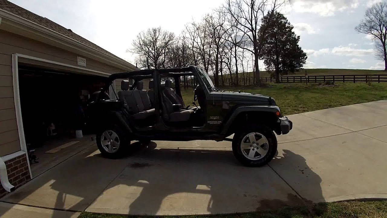 Gopro hero hd jeep wrangler jk 2 5 inch rough country suspension lift with shocks