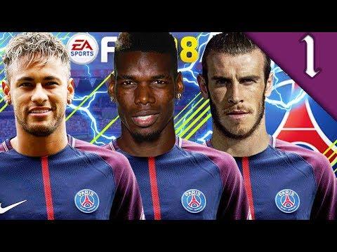 POGBA, BALE, NEYMAR SIGN! FIFA 18: PSG CAREER MODE #1