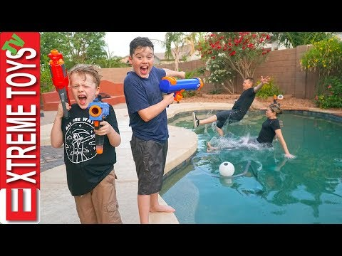 Sneak Attack Squad Home Alone Nerf Battle!