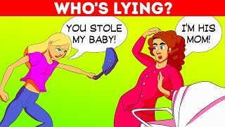 14 BRAIN BUSTING RIDDLES WITH ANSWERS! WHO'S LYING???
