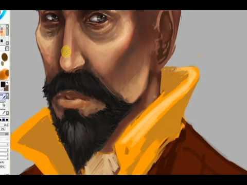 Tenzin - Avatar: Legend of Korra - Paint Tool SAI Process