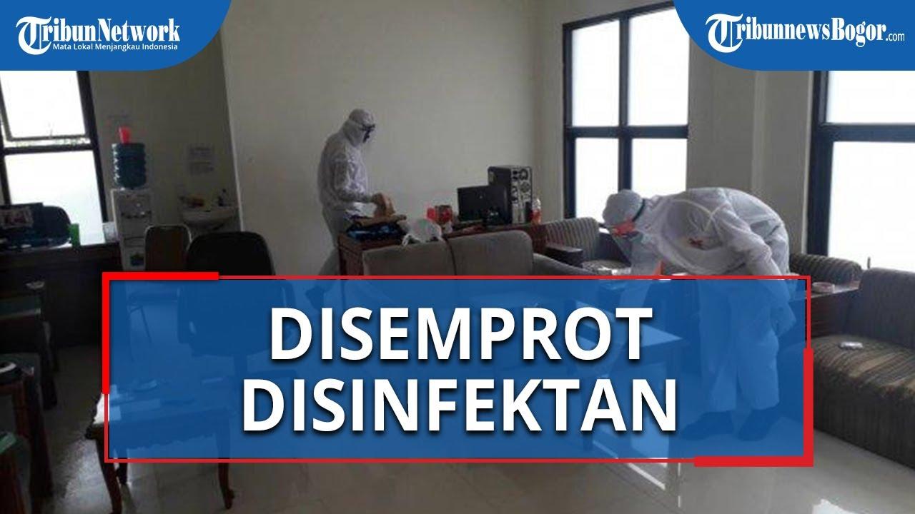 Pasca Pegawai Positif Covid-19, Kantor DPRD Kabupaten Bogor Disemprot Desinfektan Dua Kali Sehari