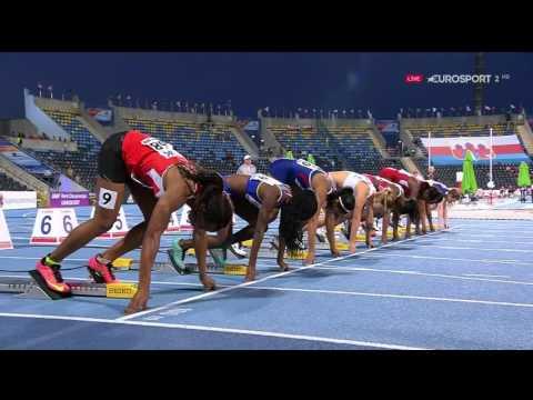 74 Candace Hill vs Ewa Swoboda 100m FINAL HD World U20 Championships Bydgoszcz 2016