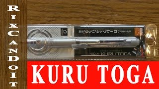 ROTATES!  Uni Kuru Toga Roulette Style Mechanical Pencil review | Best Pencil search