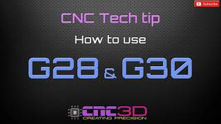 CNC Tech Tip - How to use G28 and G30 G-codes using GRBL
