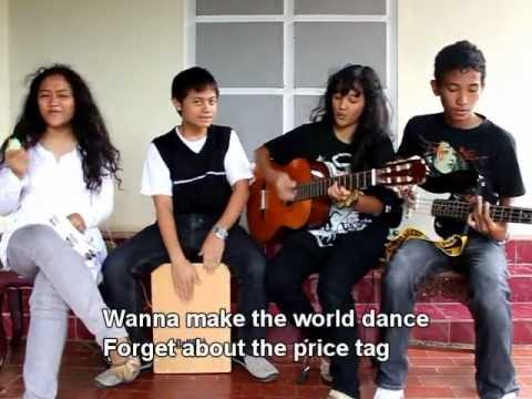 Jessie J - Price Tag (Acoustic Cover by X4A) with LYRICS