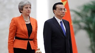 Li Keqiang holds a welcome ceremony for Theresa May in Beijing