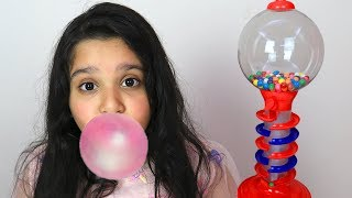 Pre-School Toddler Learning Colors with gumball machine