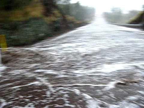 Flooding of Mamalahoa Highway Big Island Hawaii
