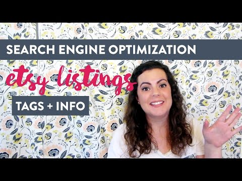 Etsy Listings and Search Engine Optimization | Simple SEO Ideas for Sellers