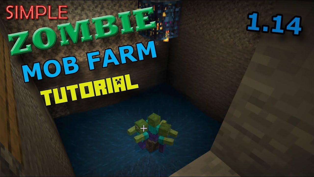 Simple Zombie Mob Farm Tutorial - Minecraft Bedrock Edition - 11.111