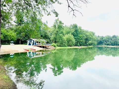 Private Lakefront Land for Sale 13.5 acres with Pole Barn in Porter County, Indiana