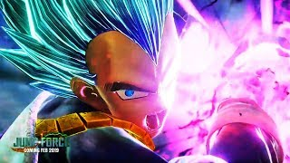 JUMP FORCE - NEW Super Saiyan Blue Vegeta & Goku VS Golden Frieza GAMEPLAY! SSGSS Forms!