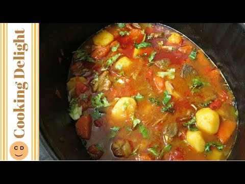Spicy Beef & Vegetable Stew || Slow Cooker