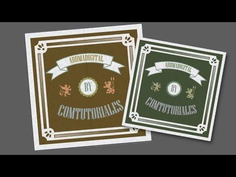 Illustrator 123 Diseño Vintage con texto y formas