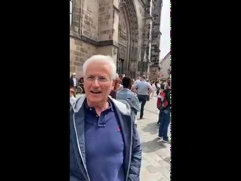 Peter Weber heute bei der Demo in Nürnberg. HALLO MEINUNG für unsere Freiheitsrechte!
