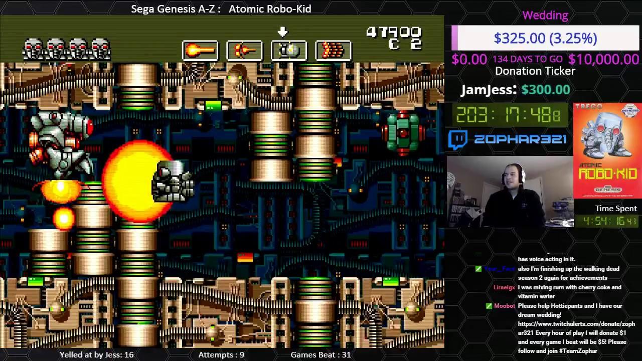 Sega Genesis A Z Atomic Robo Kid Journey To Beat Every