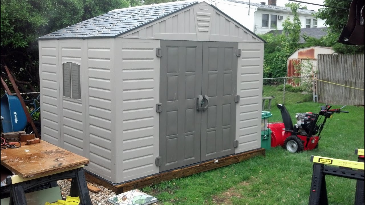 Vinyl sheds are great even in the rain I rate it 5 Stars