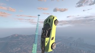 ROCKET CAR VS THE BIGGEST JUMPS IN GTA 5 (IMPORT/EXPORT DLC) PT1