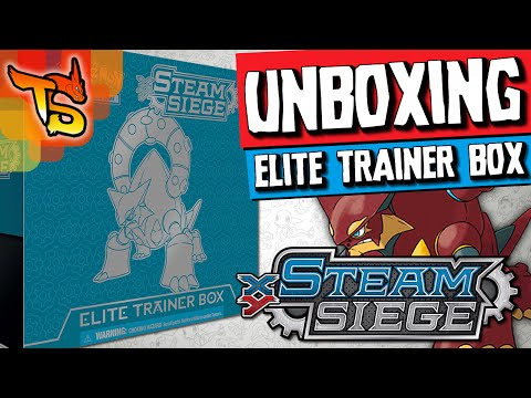 Pokémon TCG - Unboxing da Elite Trainer Box Steam Siege/Cerco de Vapor XY11