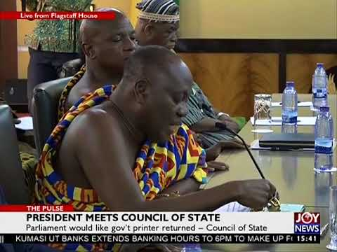 President meets council of state - The Pulse on JoyNews (15-8-17)
